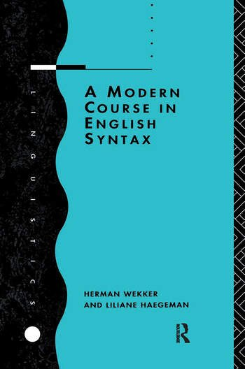 A Modern Course in English Syntax book cover