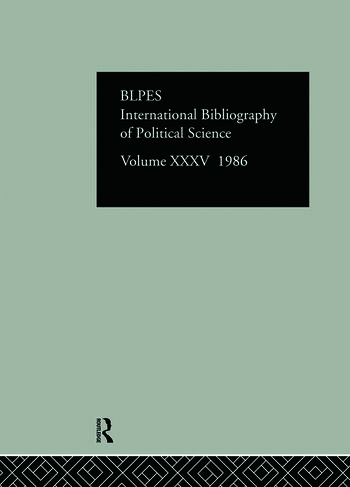 IBSS: Political Science: 1986 Volume 35 book cover
