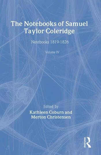 The Notebooks of Samuel Taylor Coleridge Notebooks 1819-1826 book cover