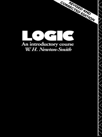 Logic An Introductory Course book cover