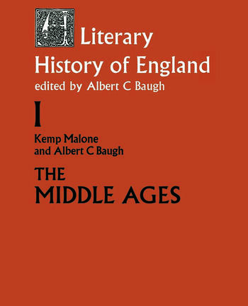 A Literary History of England Vol 1: The Middle Ages (to 1500) book cover