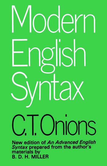 Modern English Syntax book cover