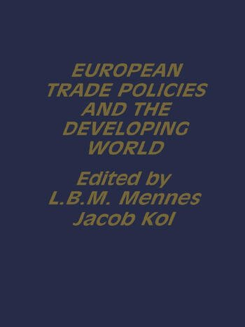 European Trade Policies and Developing Countries book cover