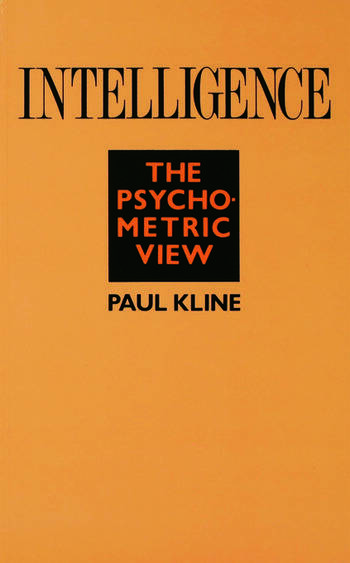 Intelligence The Psychometric View book cover