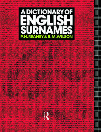 A Dictionary of English Surnames book cover