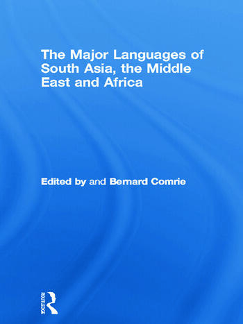 The Major Languages of South Asia, the Middle East and Africa book cover