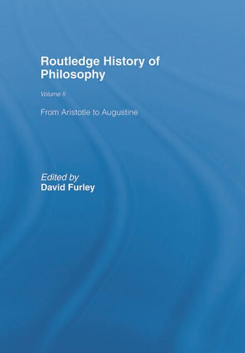 Routledge History of Philosophy Volume II Aristotle to Augustine book cover