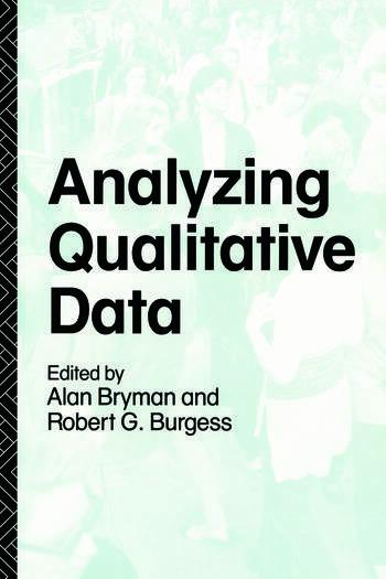 Analyzing Qualitative Data book cover