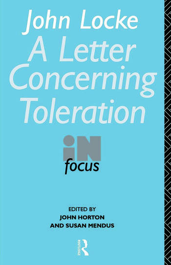 John Locke's Letter on Toleration in Focus book cover