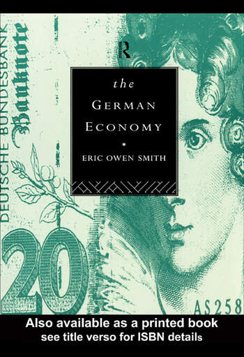 The German Economy book cover