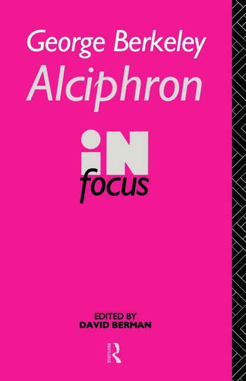 George Berkeley Alciphron in Focus book cover