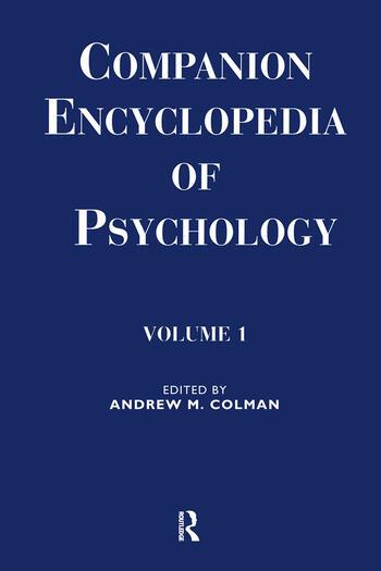 Companion Encyclopedia of Psychology 2-volume set book cover