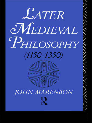 Later Medieval Philosophy book cover