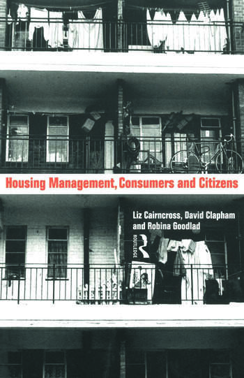 Housing Management, Consumers and Citizens book cover