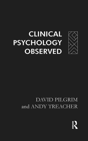 Clinical Psychology Observed book cover