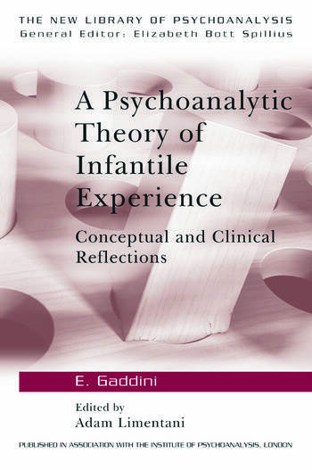 A Psychoanalytic Theory of Infantile Experience Conceptual and Clinical Reflections book cover