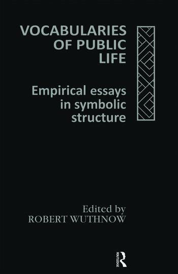 Vocabularies Of Public Life book cover