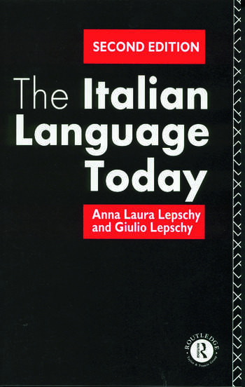 The Italian Language Today book cover