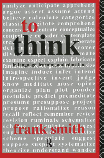 To Think In Language, Learning and Education book cover