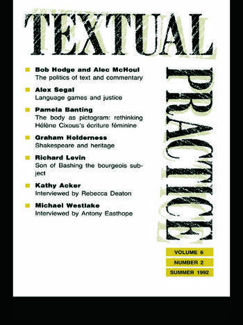 Textual Practice Volume 6, Issue 2 book cover