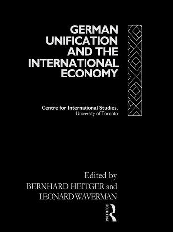 German Unification and the International Economy book cover