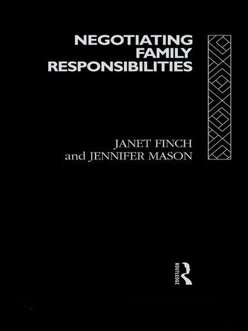 Negotiating Family Responsibilities book cover