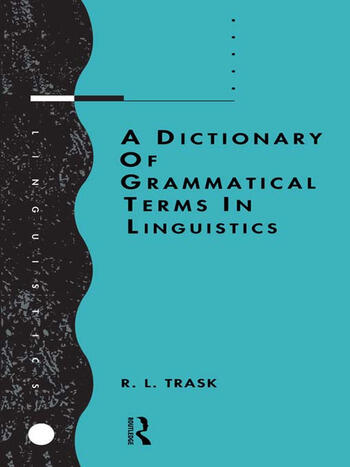 A Dictionary of Grammatical Terms in Linguistics book cover