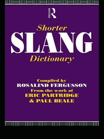 Shorter Slang Dictionary book cover