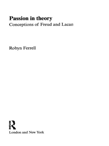 Passion in Theory Conceptions of Freud and Lacan book cover
