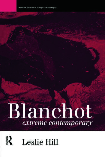 Blanchot Extreme Contemporary book cover