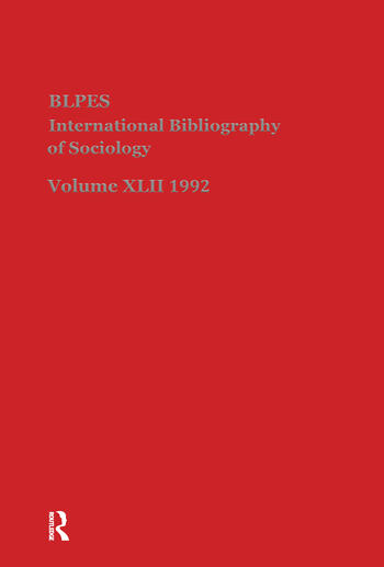 IBSS: Sociology: 1992 Vol 42 book cover