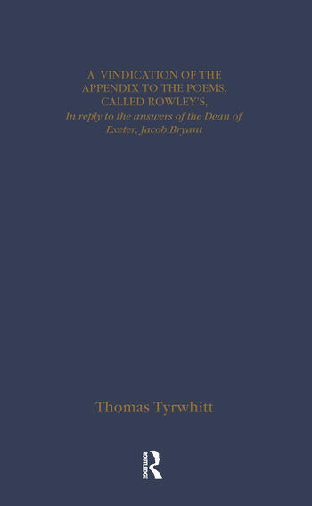 Thomas Chatterton: Early Sources and Responses book cover