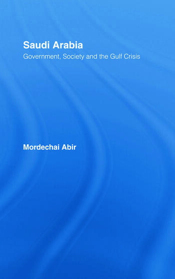 Saudi Arabia Society, Government and the Gulf Crisis book cover