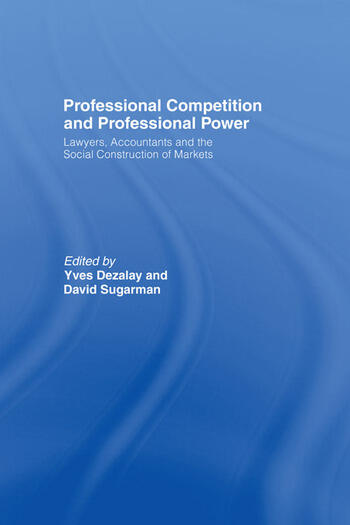 Professional Competition and Professional Power book cover