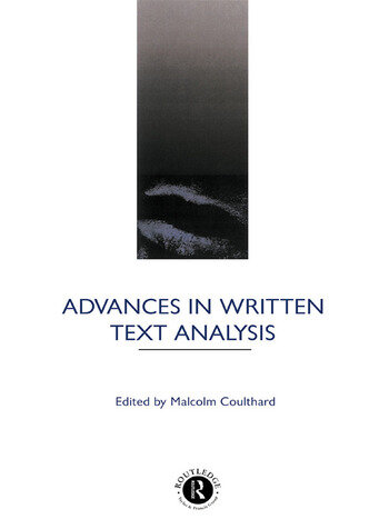 Advances in Written Text Analysis book cover