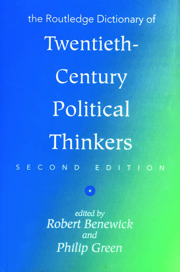 The Routledge Dictionary of Twentieth-Century Political Thinkers book cover