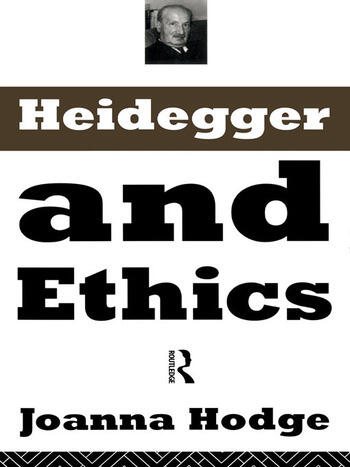 Heidegger and Ethics book cover