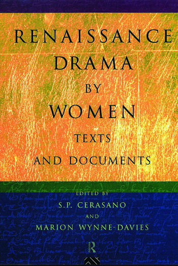 Renaissance Drama by Women: Texts and Documents book cover