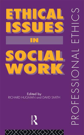 Ethical Issues in Social Work book cover