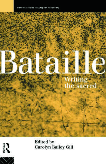 Bataille Writing the Sacred book cover