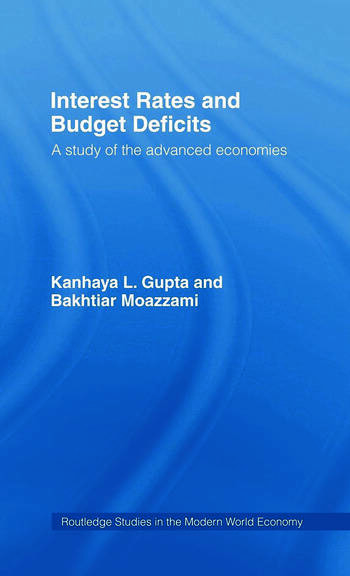 Interest Rates and Budget Deficits A Study of the Advanced Economies book cover