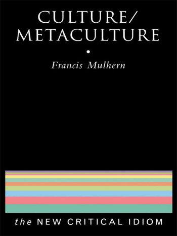 Culture/Metaculture book cover