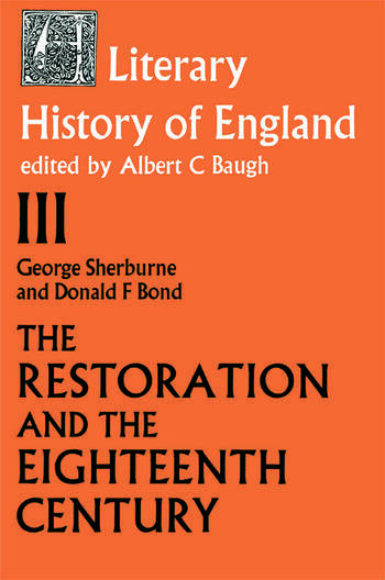 The Literary History of England Vol 3: The Restoration and Eighteenth Century (1660-1789) book cover
