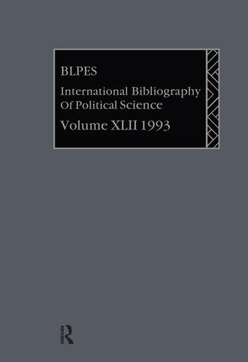 IBSS: Political Science: 1993 Vol 42 book cover