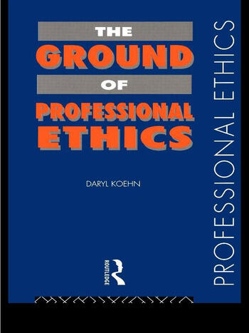 The Ground of Professional Ethics book cover