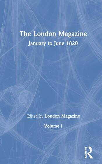 The London Magazine The Romantics in Context book cover