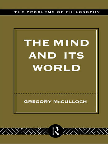 The Mind and its World book cover