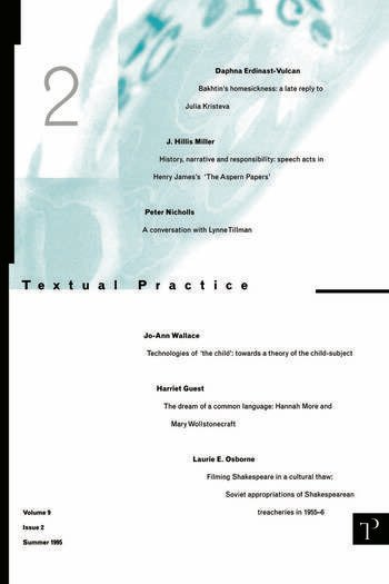 Textual Practice Volume 9 Issue 2 book cover