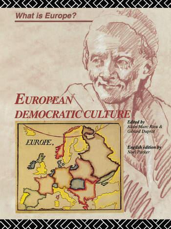 European Democratic Culture book cover