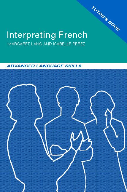 Interpreting French Advanced Language Skills book cover